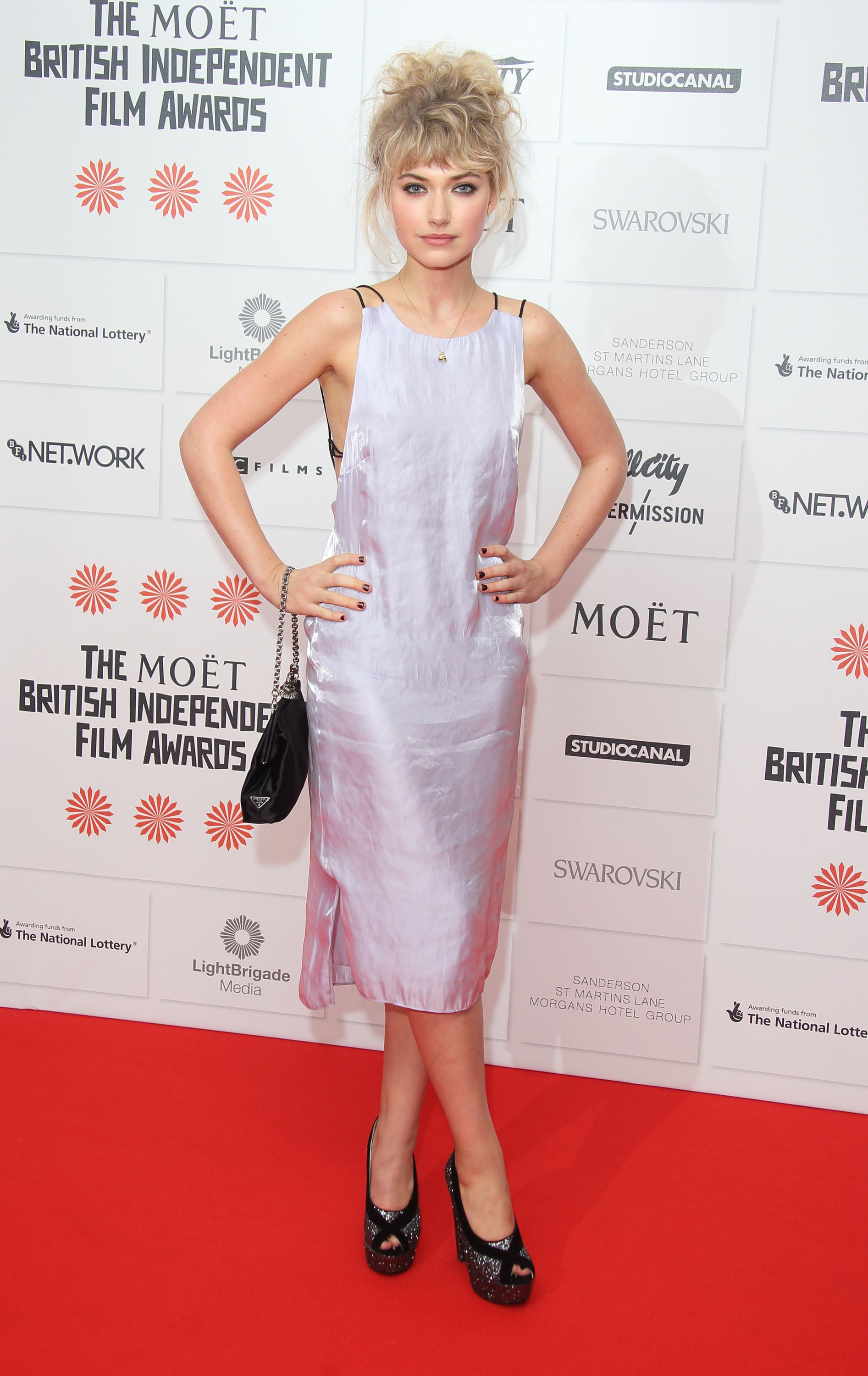Here's a closer look at Imogen's silver Rag & Bone dress, worn at the British Independent Film Awards.