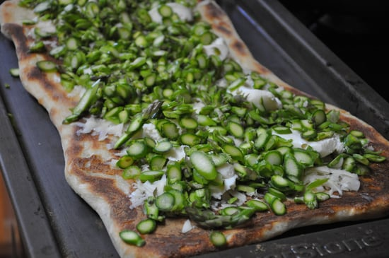 Asparagus Pizza With Lemon Vinaigrette