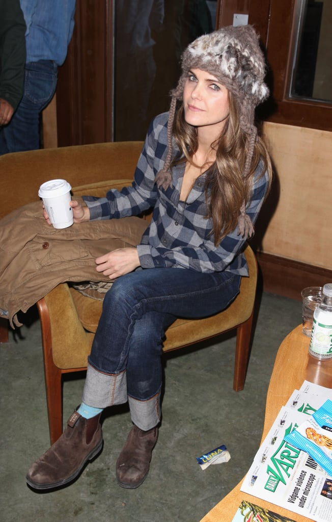 Keri Russell kicked back at a party at Sundance on Friday.