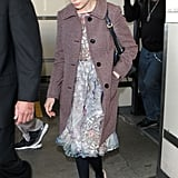 Michelle Williams kept her sunglasses on at the airport.