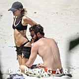 Miley Cyrus and Liam Hemsworth at the Beach Jan. 2018