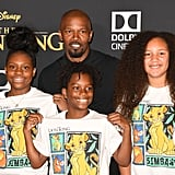 Pictured: Jamie Foxx, his daughter Anelise, and friends at The Lion King premiere in Hollywood.