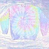 Etsy Light Pink and Light Purple Tie Dye Sweatshirt