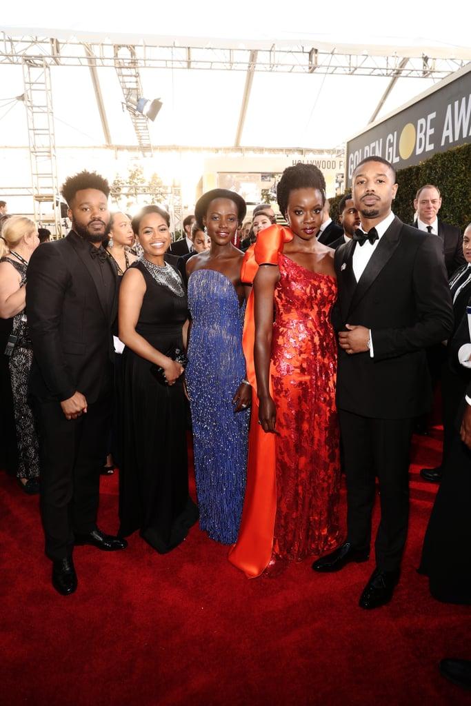 Pictured: Ryan Coogler, Zinzi Evans, Lupita Nyong'o, Danai Gurira, and Michael B. Jordan