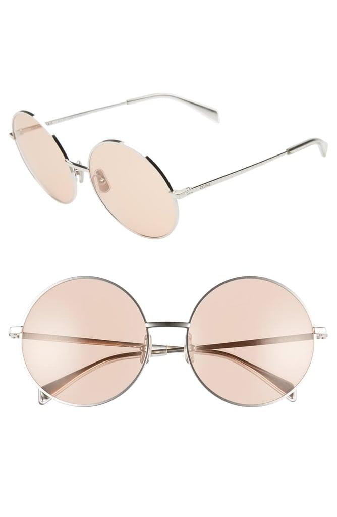 Céline 61mm Round Sunglasses