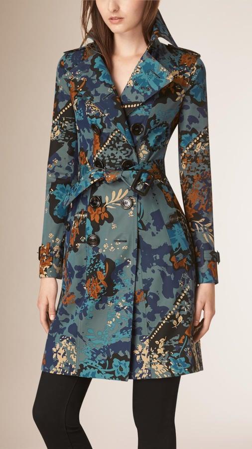 Burberry Prorsum Floral Cotton Gabardine Trench Coat ($2,995)