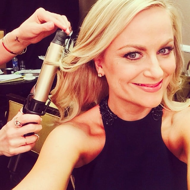 Amy Poehler snapped a selfie while getting ready for the Golden Globes. Source: Instagram user stellamccartney