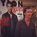 We saw double as Matthew McConaughey posed in front of a poster of his Nylon Guys cover at the issue's launch party.