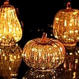 Mercury Glass Pumpkin Light