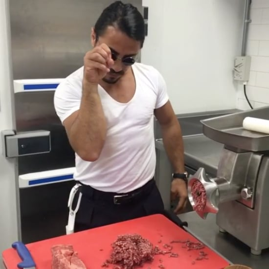 Salt Bae Seasoning a Burger on Instagram