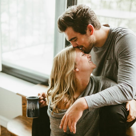Cozy Apartment Engagement Photo Shoot
