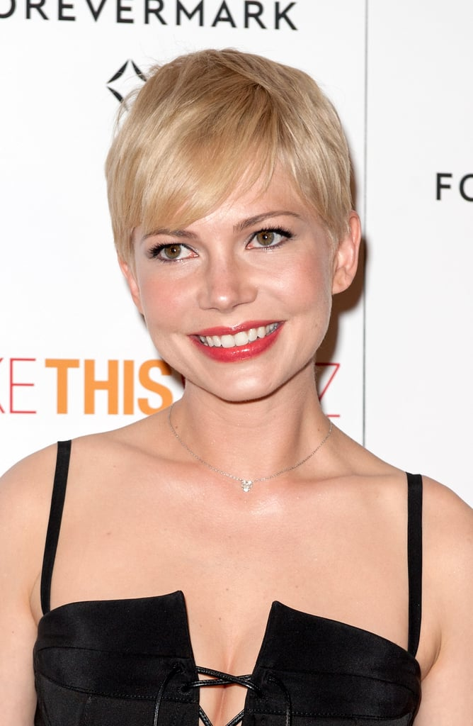 Michelle Williams smiled for the cameras.