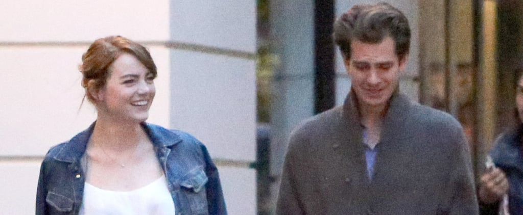 Emma Stone and Andrew Garfield Have a Friendly Reunion in London