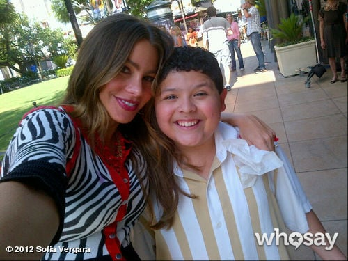 Sofia Vergara posed with Rico Rodriguez on the set of Modern Family. Source: Sofia Vergara on WhoSay