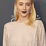 Saoirse Ronan in Dark Red Lipstick at the Critics' Choice Awards