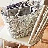 Astri Silver Foil Wicker Basket