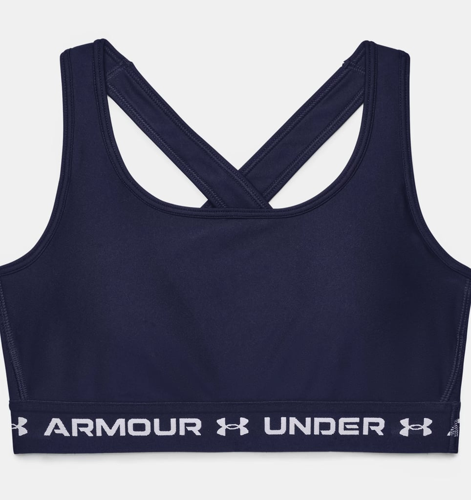Under Armour Mid Crossback Sports Bra in Midnight Navy