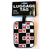 Crossword Puzzle Luggage Tags ($13 For Two)