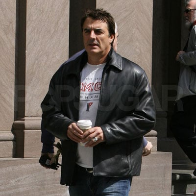 Chris Noth on the Set of Law and Order in NYC