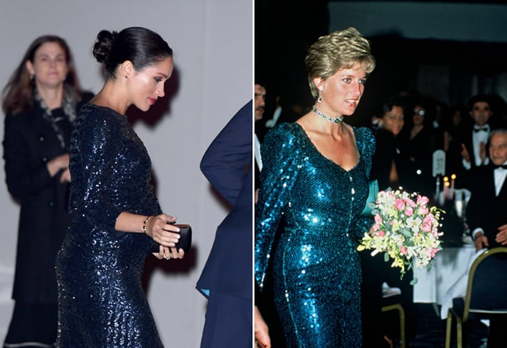 meghan markle s princess diana sequin dress 2019 popsugar fashion princess diana sequin dress 2019