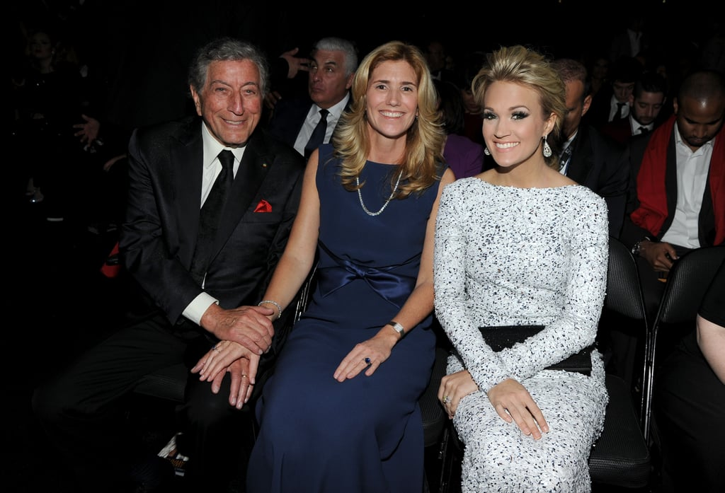 Carrie Underwood posed for a snap with Tony Bennett.