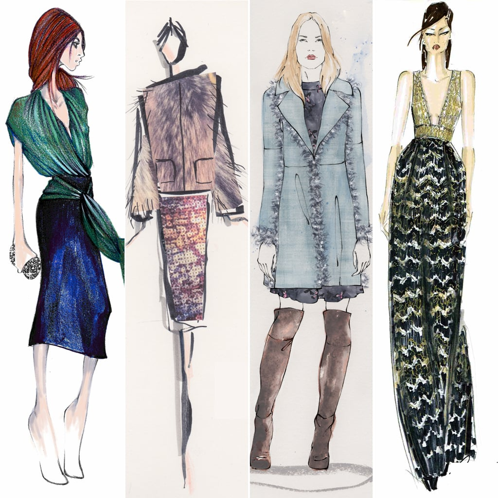 Designer sketches from new york fashion week fall 2015 for Nyu tisch fashion design