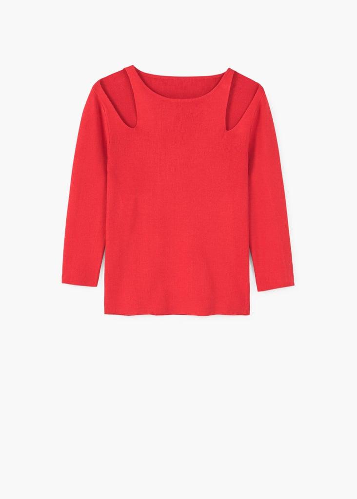 Mango Cut-Out Sweater ($40)