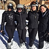 Kim Stood Out Among Her Ski Pals