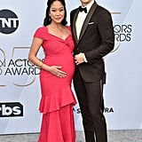 Harry Shum Jr. and Shelby Rabara at the 2019 SAG Awards