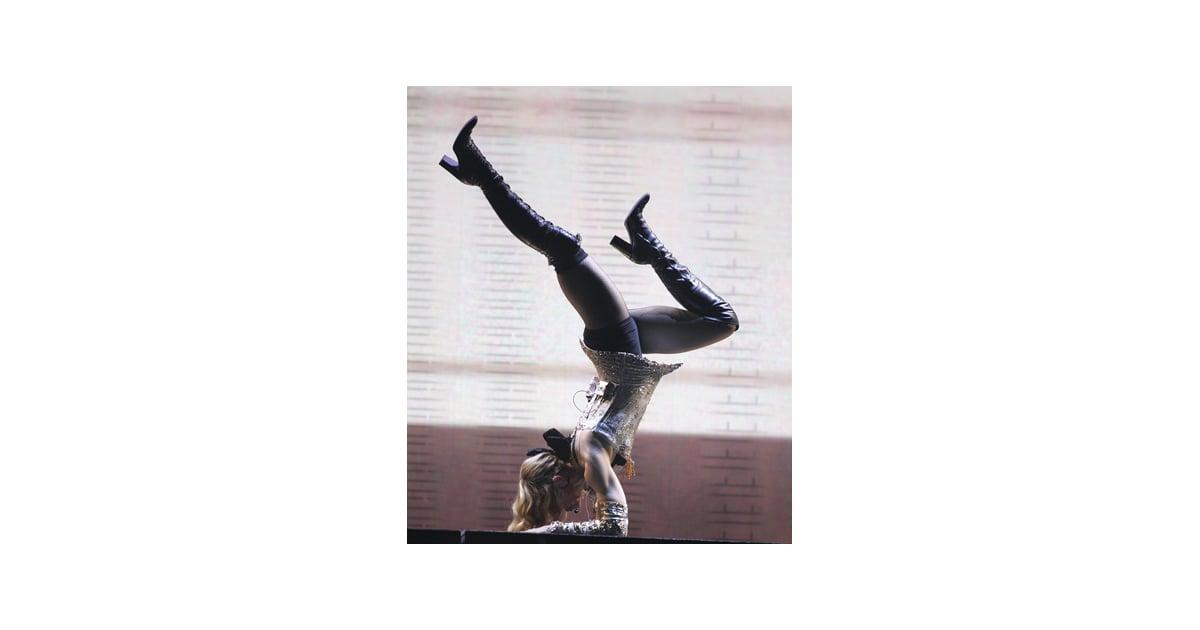Madonna Celebrities Who Do Yoga Popsugar Fitness Photo 11