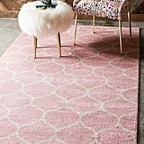 Unique Loom Trellis Frieze Collection Lattice Moroccan Geometric Modern Pink Area Rug