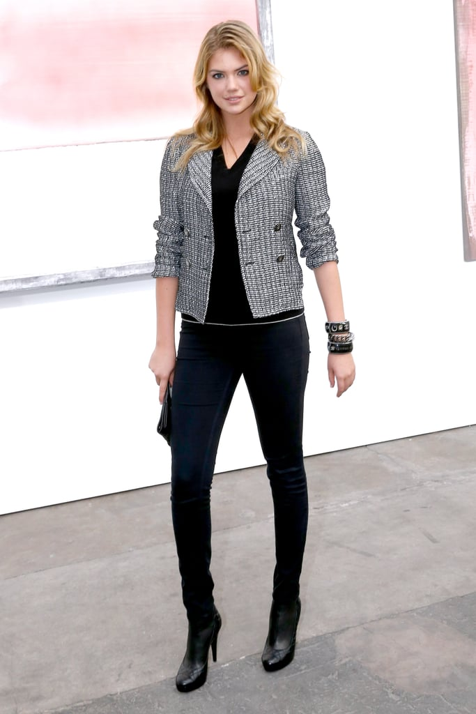 Kate Upton's Chanel ensemble was all about her cropped jacket.
