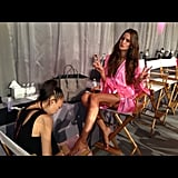 Izabel Goulart's toes got a final touch-up. Source: Instagram user iza_goulart