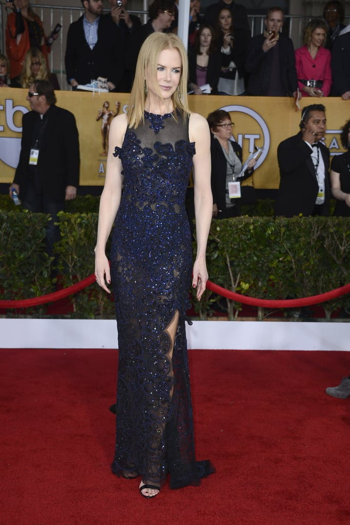 Between the slim-cut fit, thigh-high slit, and sheer fabric, Nicole Kidman's Vivienne Westwood dress had all the makings of a jaw-dropping red-carpet moment.