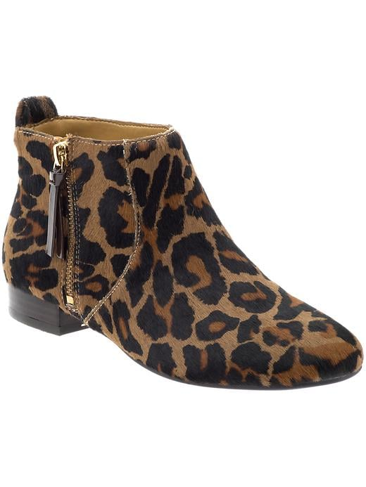"We already have a thing for leopard print, but on a flat, walkable ankle boot to liven up our every look, our ""thing"" may now border on obsession.  Nine West Perfectpair Ankle Boot ($119)"