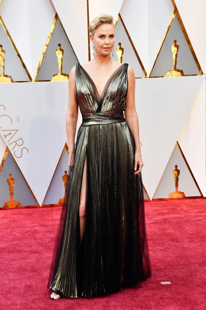 Charlize Theron | Sexiest Oscars Dresses 2017 | POPSUGAR ...