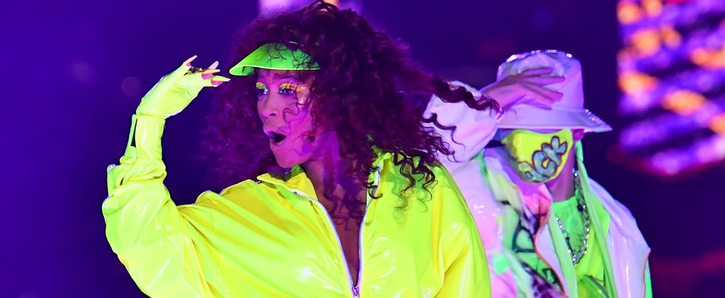 Keke Palmer's Neon Green and Orange Eye Makeup at 2020 VMAs