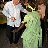 Harry at a Jubilee Block Party in Belize in March 2012