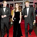 Princes William and Harry looked dapper in bow ties when they attended The Sun Military Awards with Kate Middleton in London in December 2011.