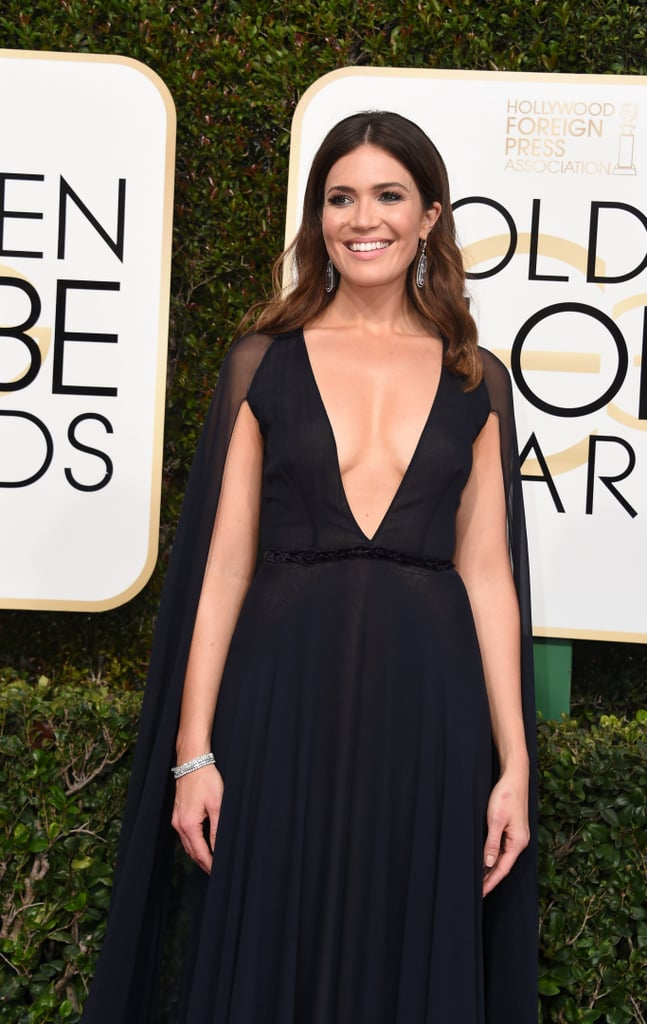 Mandy Moore at the 2017 Golden Globes