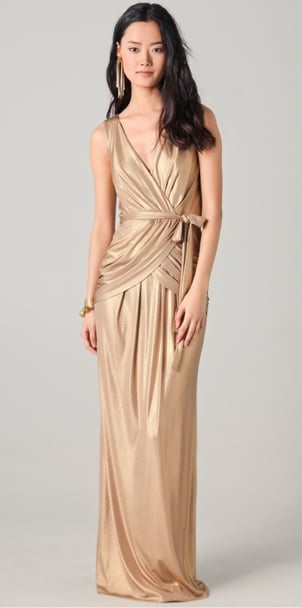 This floor-length gold maxi has a refined Grecian-inspired vibe that feels perfect for a Summer evening affair. Alice by Temperley London Long River Dress ($545)