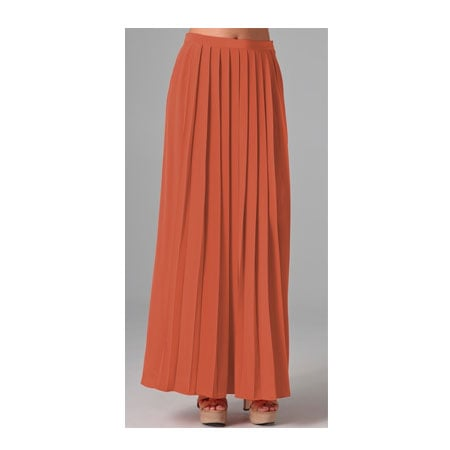 Pleated long skirt, approx $310, Tibi at Shobop