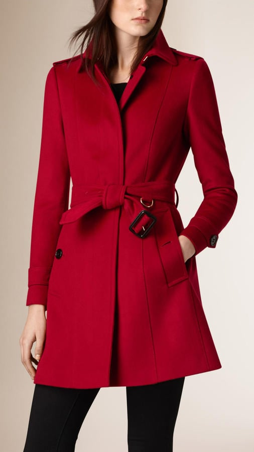Completely new Burberry Pleat Detail Wool Cashmere Trench Coat | Queen Letizia in  MN32