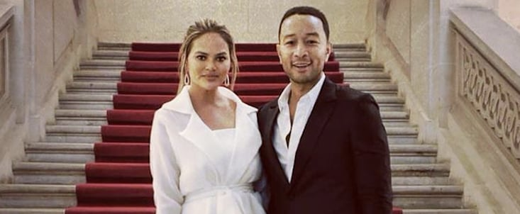 Chrissy Teigen and John Legend 6th Anniversary in Paris