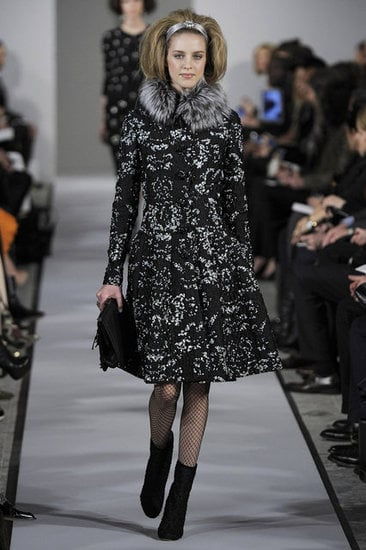 A ladylike coat from Oscar de la Renta.