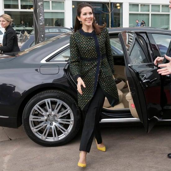 Princess Mary Wearing Yellow Heels April 2016