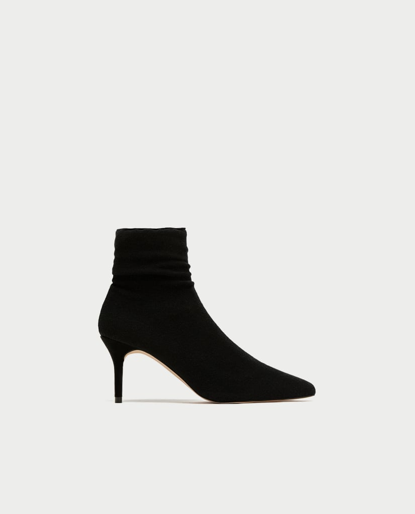 High Heel Sock-Style Ankle Boots (£50)