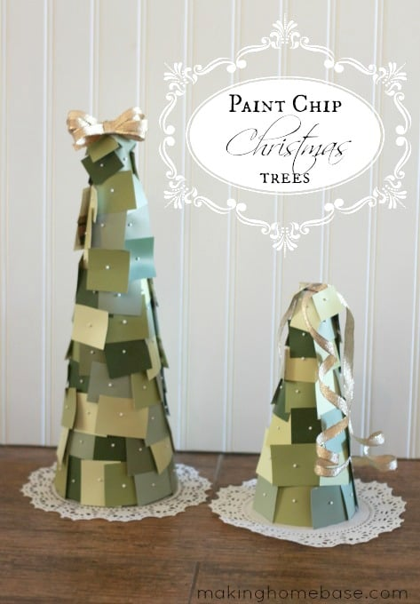paint chip christmas trees