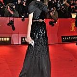 Diane's Giambattista Valli Couture gown doesn't short on the fashion-forward drama.