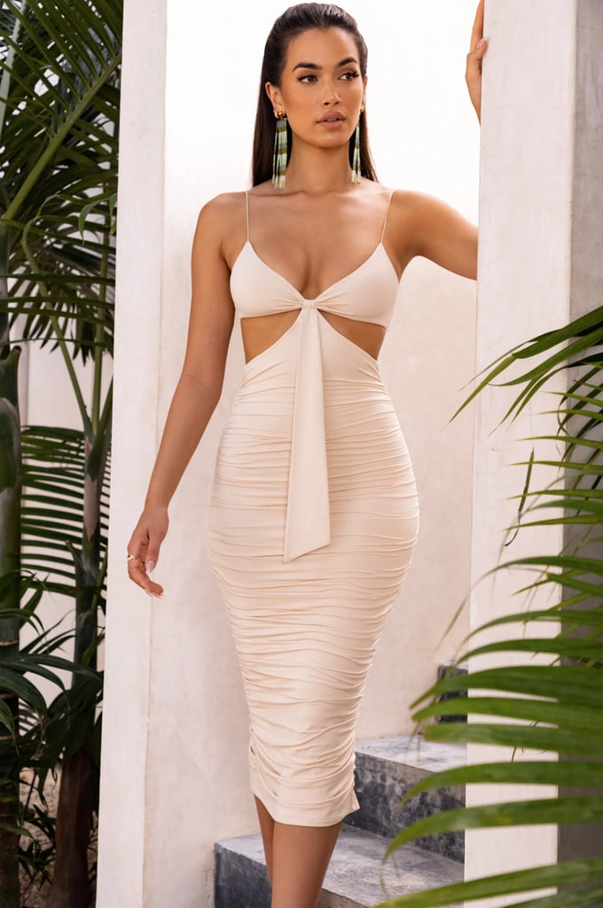 Oh Polly Ruched Cut Out Dress